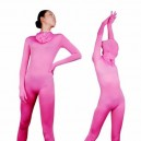 Unicolor Fullbody Full Body Pink Lycra Spanex Unisex Morph Zentai Suit