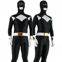 Supply Black with White Lycra Spandex Unisex Morph Zentai Suit