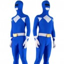 Blue with White Lycra Spandex Unisex Morph Zentai Suit