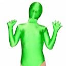 Half Length Green Lycra Spandex Unisex Leotard Catsuit