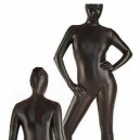 Black Shiny Metallic Morph Zentai Suit