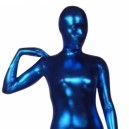 Blue Shiny Metallic Morph Zentai Suit