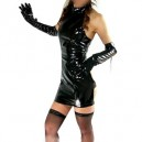 Ideal Black PVC Sexy Dress