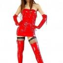 Supply Red PVC Dress