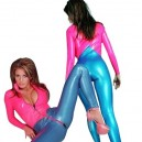 Two Way Zipper PVC Unisex Catsuit