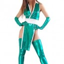 Cheap Green Shiny Metallic Sexy Costume
