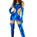 Supply Classic Blue Shiny Metallic Sexy Dress