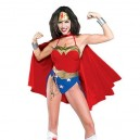 Supply Lovely Wonder Woman Diana Lycra Shiny Metallic Super Hero