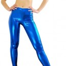 Supply  Blue Shiny Metallic Sexy Trousers