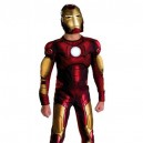 Iron Man Shiny Metallic Super Hero Cost