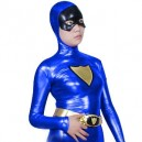 Supply Purple Shiny Metallic Super Hero Costume
