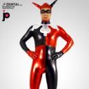 Harley Quinn Shiny Metallic Morph Zentai Suit