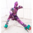 Supply Pink and Purple DuPont Animal Pattern Morph Zentai Catsuit Tights