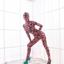 Supply Red Leopard Spots DuPont Morph Zentai Catsuits Tights