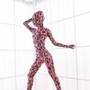 Red Leopard Spots DuPont Morph Zentai Catsuits Tights