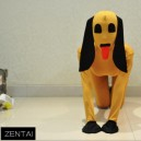 Lycra Tights Yellow Dog Models Fullbody Full Body with Morph Zentai Suit Morph Costume Suits
