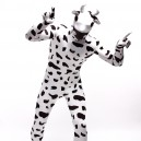 Supply Black and White Dots Cow Cartoon Full Body Halloween Spandex Holiday Unisex Cosplay Zentai Suit