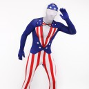Usa National Flag Full Body Halloween Spandex Holiday Unisex Cosplay Zentai Suit