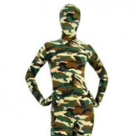 Fullbody Full Body Desert Camouflage Pattern Morph Zentai suit