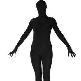 Unicolor Fullbody Full Body Black Spandex Morph Zentai Suit