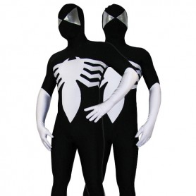 Black Lycra Spandex Spiderman Morph Zentai Costume