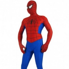 Red and Blue Lycra Spandex Spiderman Morph Zentai Costume