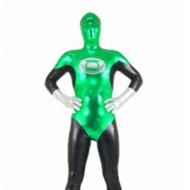 The Green Lantern Shiny Metallic Unisex Morph Zentai Suit