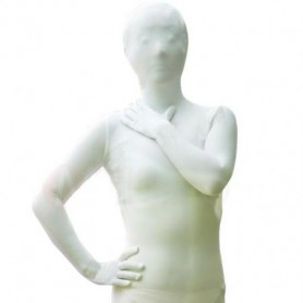 Ideal Unicolor Fullbody Full Body White Lycra Spandex Unisex Morph Zentai Suit