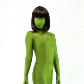 Top Unicolor Fullbody Full Body Army Green Lycra Spandex Unisex Morph Zentai Suit