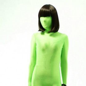 Top Unicolor Fullbody Full Body Green Lycra Spandex Morph Zentai Suit