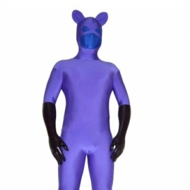 Purple Blue Spandex Unisex Morph Zentai Catsuit