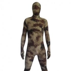 Desert Camouflage Lycra Spandex  Morph Zentai Suit