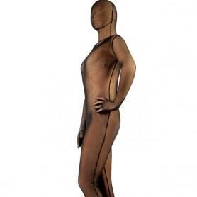 Brown Velvet Unisex Morph Zentai Suit
