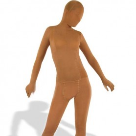 Flesh Color Velour Unisex Morph Zentai Suit
