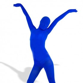 Royal Blue Velour Unisex Morph Zentai Suit