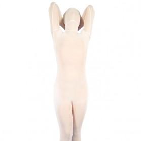 White Velour Unisex  Morph Zentai Suit