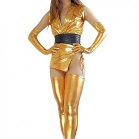 Cheap Classic Gold Shiny Metallic Sexy Costume