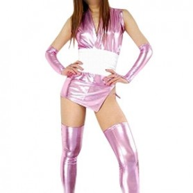 Purple Shiny Metallic Sexy Costume
