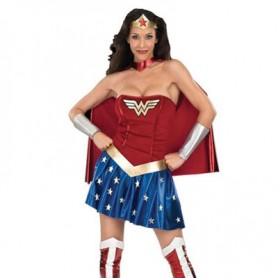 Beautiful Wonder Woman Diana Lycra Shiny Metallic Super Hero