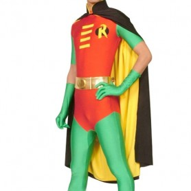 Robin Lycra Shiny Metallic Super Hero Costume