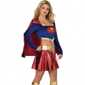Girl Lycra Shiny Metallic Super Hero Costume