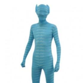 Animal Style Blue Lycra Spandex Morph Zentai Suit