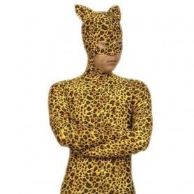 Superior Leopard Pattern Lycra Spandex Morph Zentai Catsuit