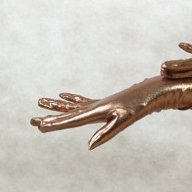ZENTAI Brown Shiny Metallic Gloves