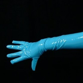 ZENTAI Lake Blue Long PVC Gloves