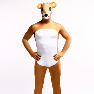 Animal Cattle Cartoon Full Body Halloween Spandex Holiday Unisex Cosplay Zentai Suit