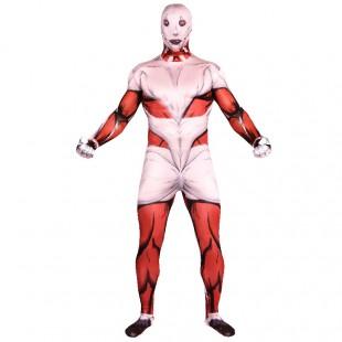 Attack on Titan Cartoon Full Body Halloween Unisex Cosplay Zentai Suit