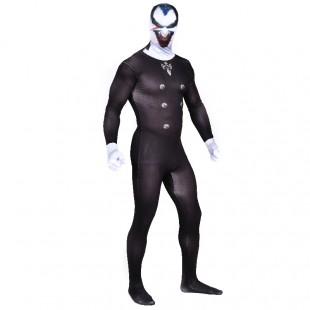 Black Vampire Full Body Halloween Spandex Holiday Unisex Cosplay Zentai Suit