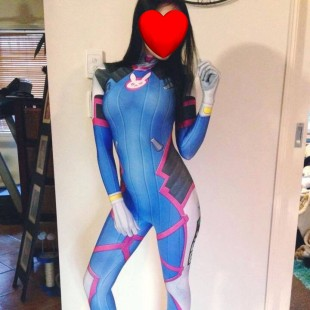 D.va Overwatch Halloween Full Body Spandex Holiday Unisex Lycra Morph Zentai Suit