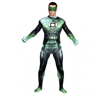 Green Lattern Full Body Halloween Spandex Holiday Unisex Cosplay Zentai Suit